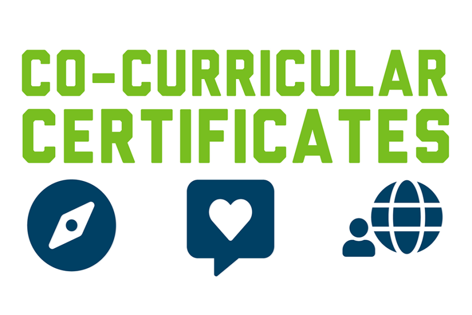 "Text: ""co-curricular certificate"""